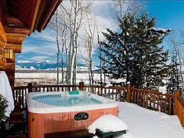 Winter Hot Tub